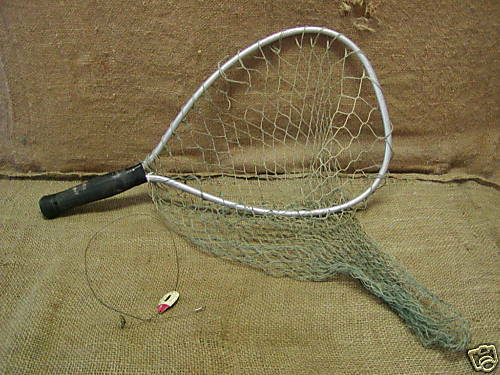 Vintage fishing net lure old antique nets fish ebay for Cabelas fishing nets