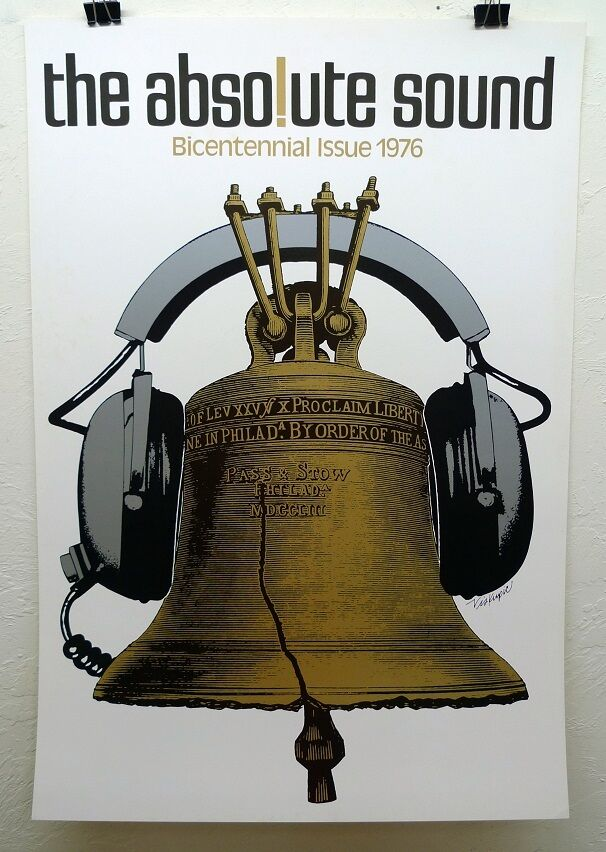 the absolute sound bicentennial poster by gary viskupic ebay. Black Bedroom Furniture Sets. Home Design Ideas