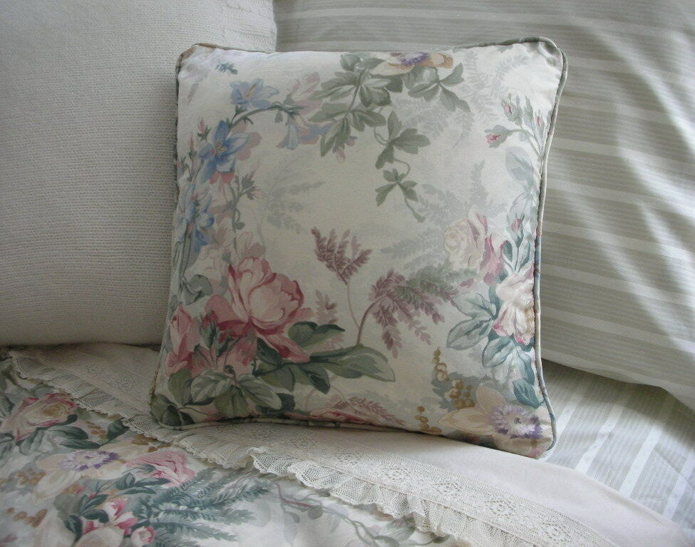 New Custom Ralph Lauren Winter Garden Floral Throw Pillow Ebay