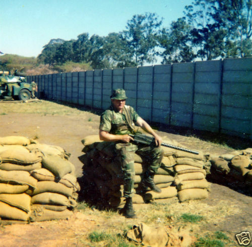 Ebay Bid Sniper >> Rhodesian Soldier with Browning 1919 Color Photo Rhodesia ...
