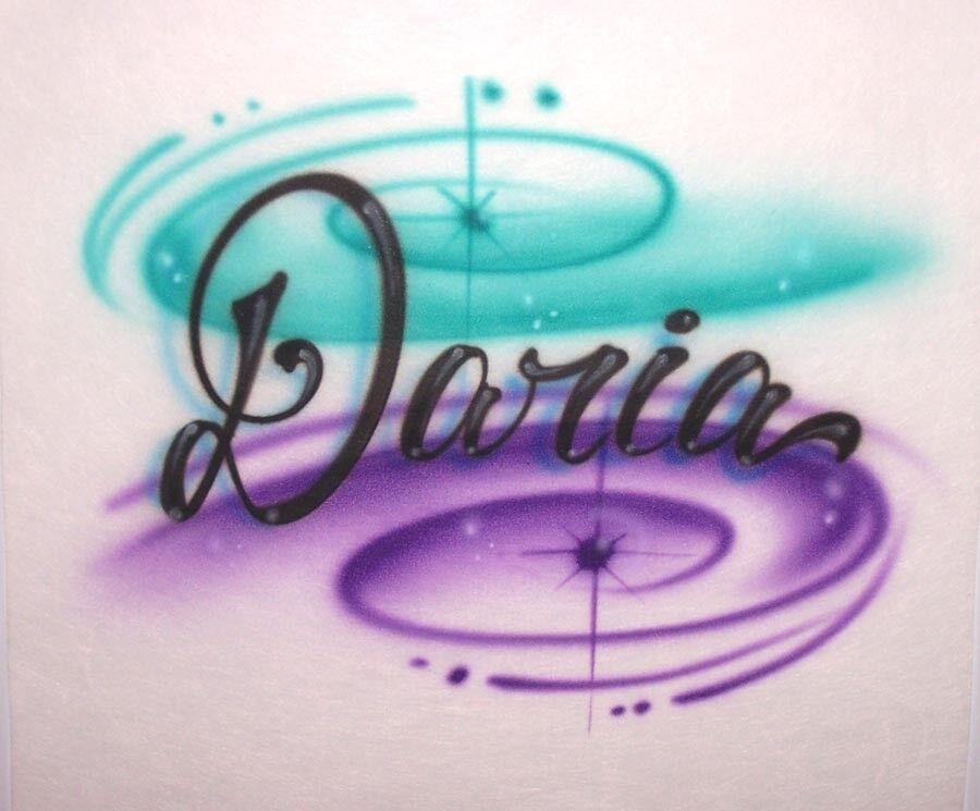 Custom made airbrushed shirt personalized w any name ebay for Custom made airbrushed shirts