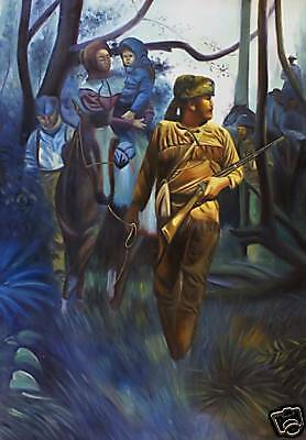 Mountain Man Oil Painting Western Leading A Horse Ebay
