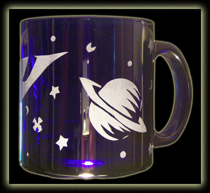 Outer space retro rocket saturn blue coffee tea mug ebay for Retro outer space