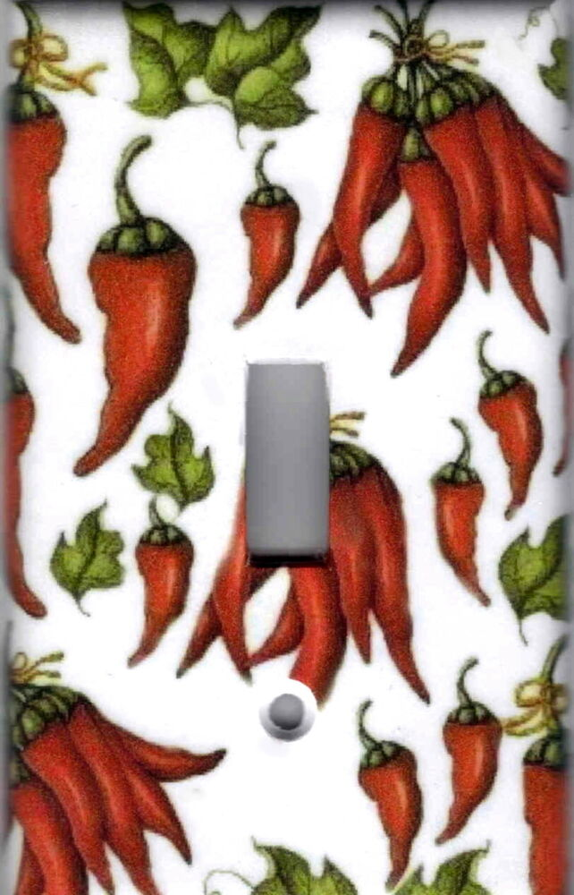 Red Chili Peppers Kitchen Home Wall Decor Single Light Switch Plate Cover Ebay