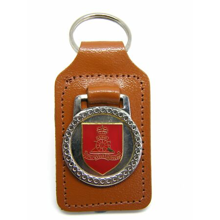 img-THE ROYAL ARTILLERY MILITARY ARMY BADGE LEATHER KEYRING KEY FOB GIFT