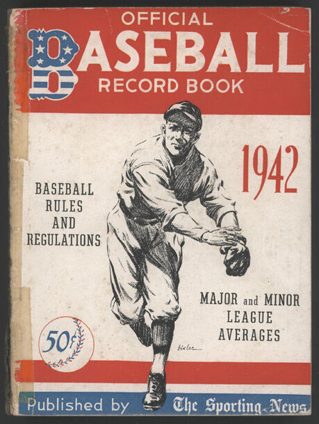1942 The Sporting News Official Baseball Record Book | eBay