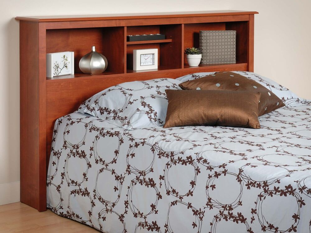 Cal King Bookcase Headboard: NEW Sonoma Full/Queen Bed Bookcase Headboard - Cherry