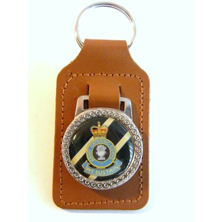 img-THE ARMY CATERING CORPS BADGE CRESTED MILITARY DETAIL LEATHER KEYRING KEY FOB