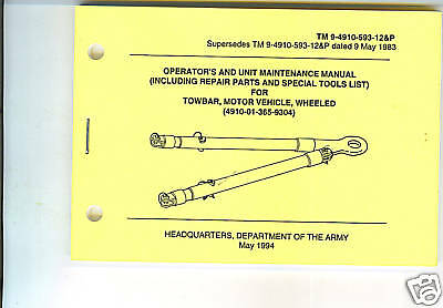 Towbar motor vehicle wheeled use and maintenance 1994 for Where can i get a motor vehicle report