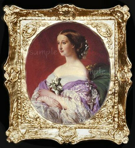 Victorian Lady Miniature Dollhouse Picture Ebay