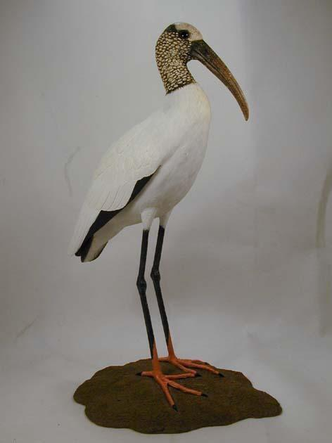 wood stork original wood carving ebay. Black Bedroom Furniture Sets. Home Design Ideas