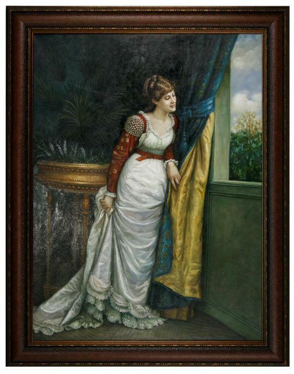 Exquisite Victorian Woman Looking out Window Portrait Art ...