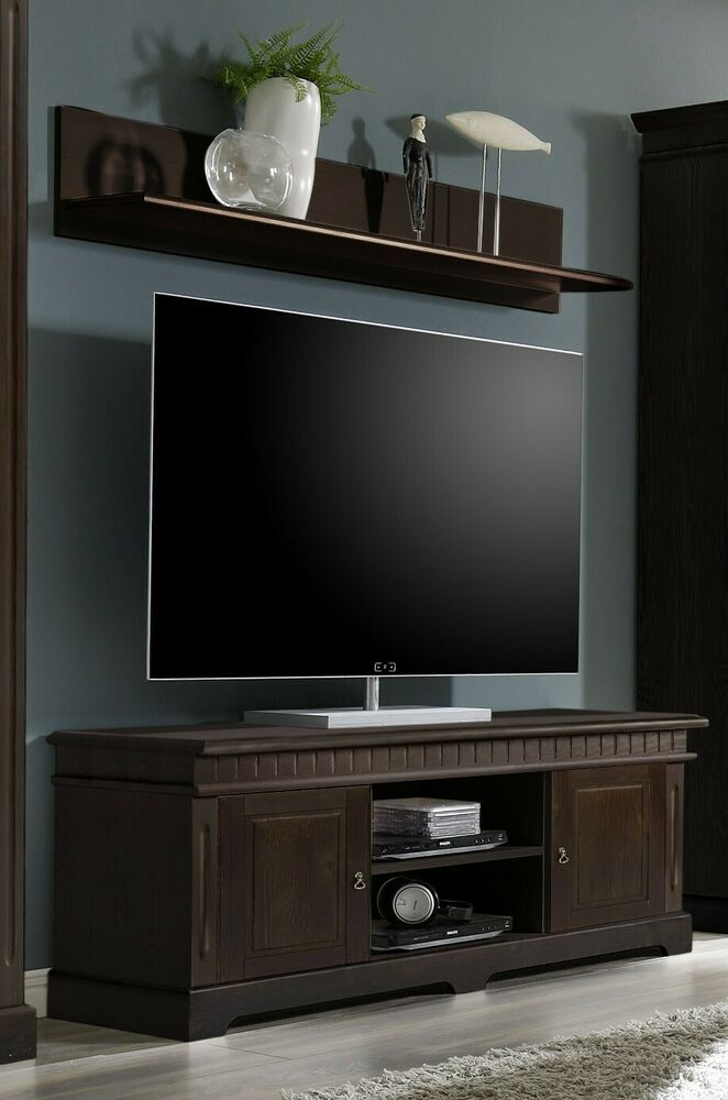 cordoba tv lowboard wandregal kiefer massiv kolonial ebay. Black Bedroom Furniture Sets. Home Design Ideas