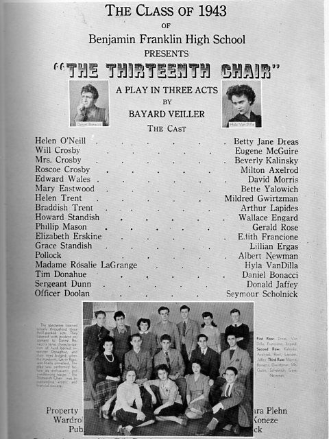 1943 Rochester Ny Franklin High School Yearbook Photos