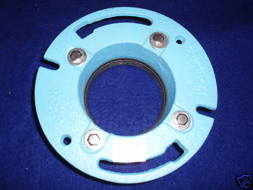 Quot cast iron toilet flange no caulk pipe size