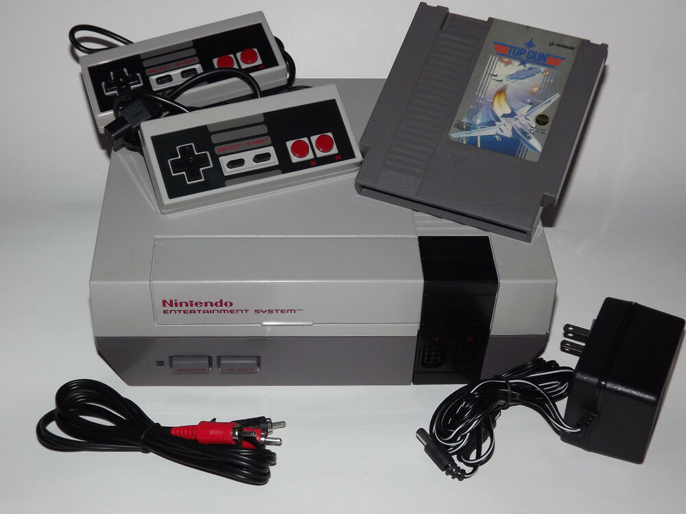 Top Gun Bumpers : Nintendo nes system console with accessories guarantee