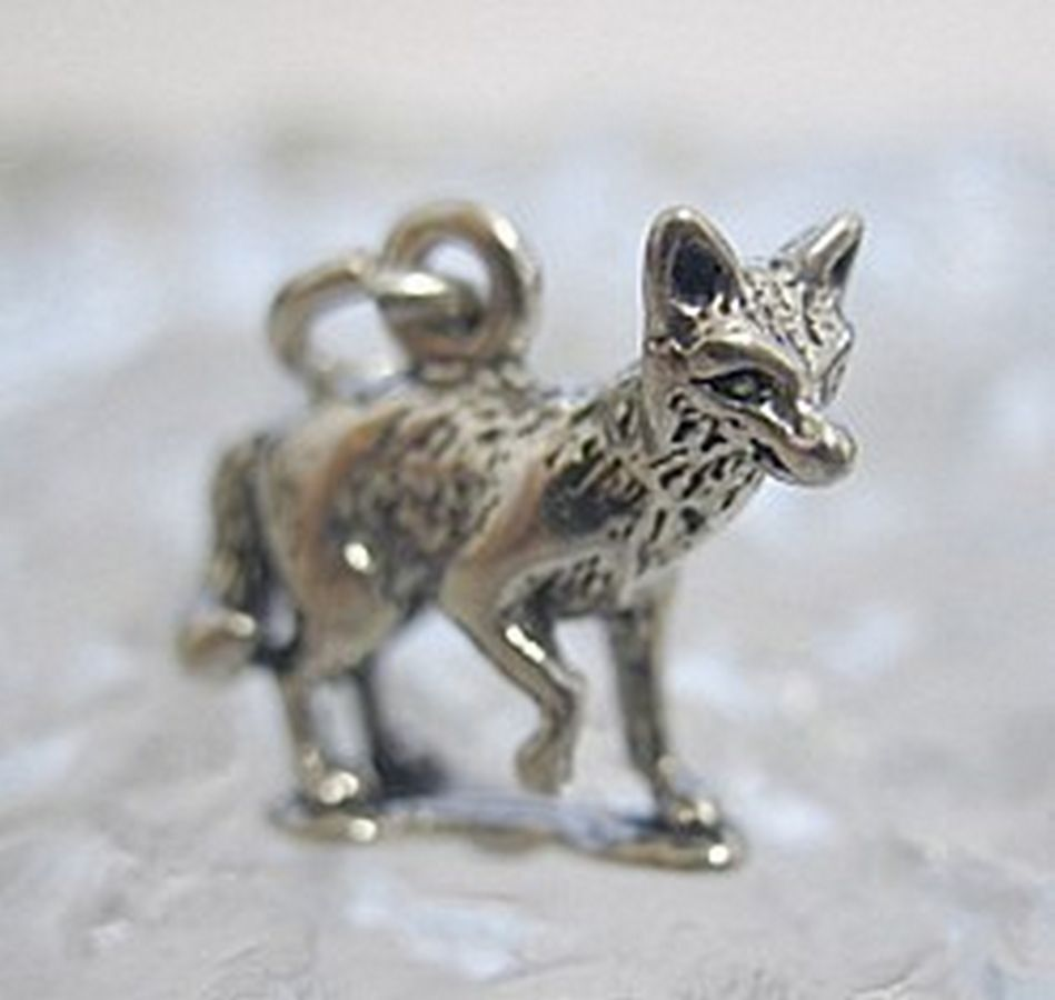 3d solid sterling silver 925 fox animal charm jewelry ebay