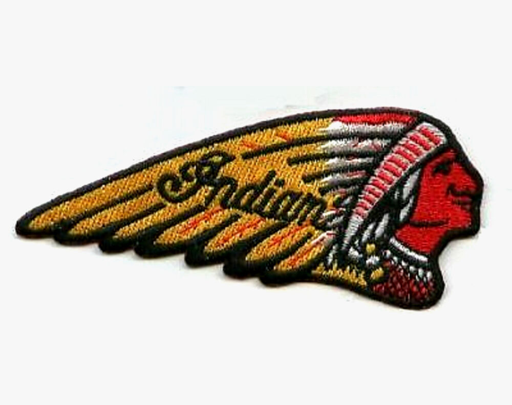 Vintage indian motorcycle indian head logo biker patch for Ebay motors indian motorcycles
