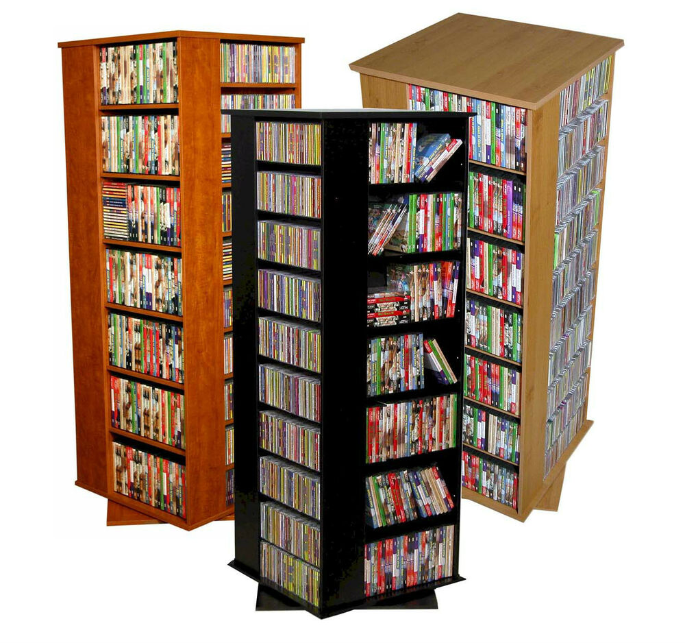 Huge 1600 Cd 756 Dvd Storage Spinner Cd Dvd Rack New Ebay