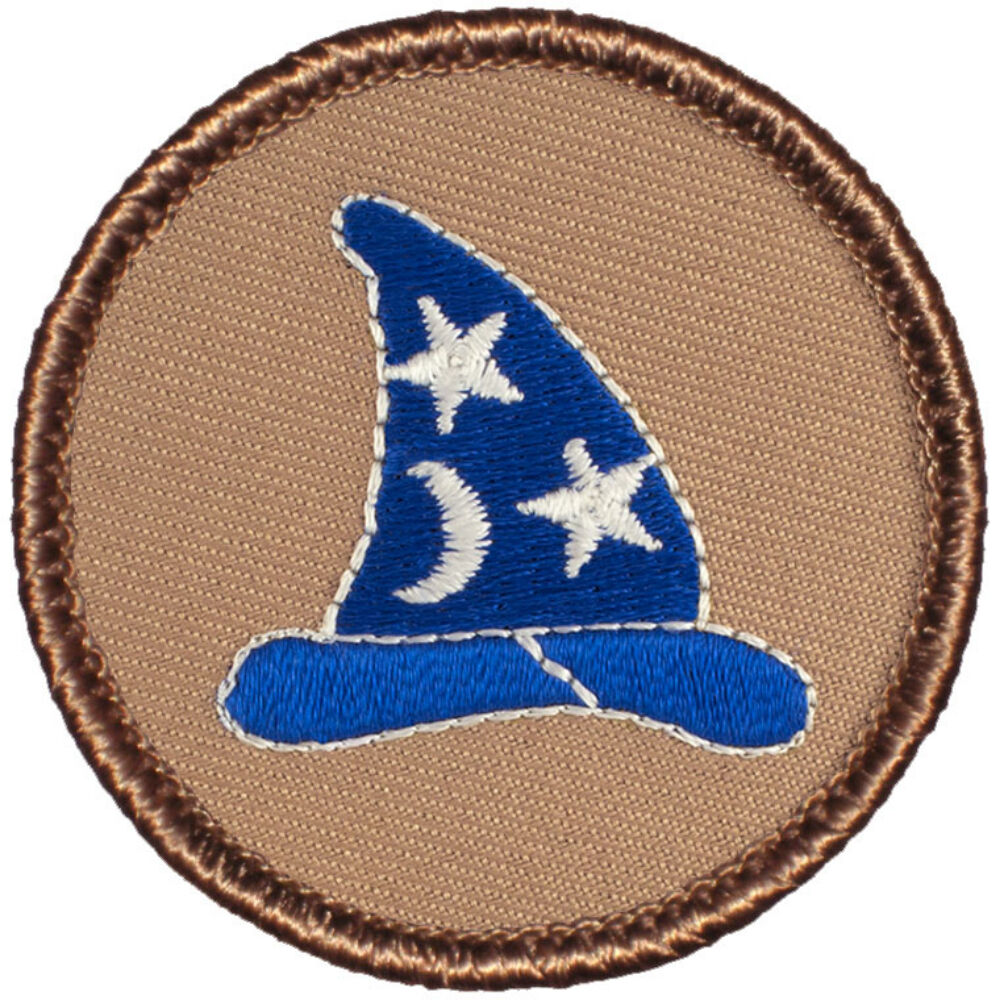 cool boy scout patches wizard hat patrol 080 ebay