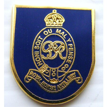 img-THE ROYAL HORSE ARTILLERY MILITARY LAPEL ARMY PIN BADGE FREE GIFT POUCH MOD APPR