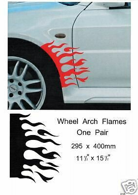 Quot Car Wheel Arch Flame Quot Graphics Decals Stickers 016 Ebay