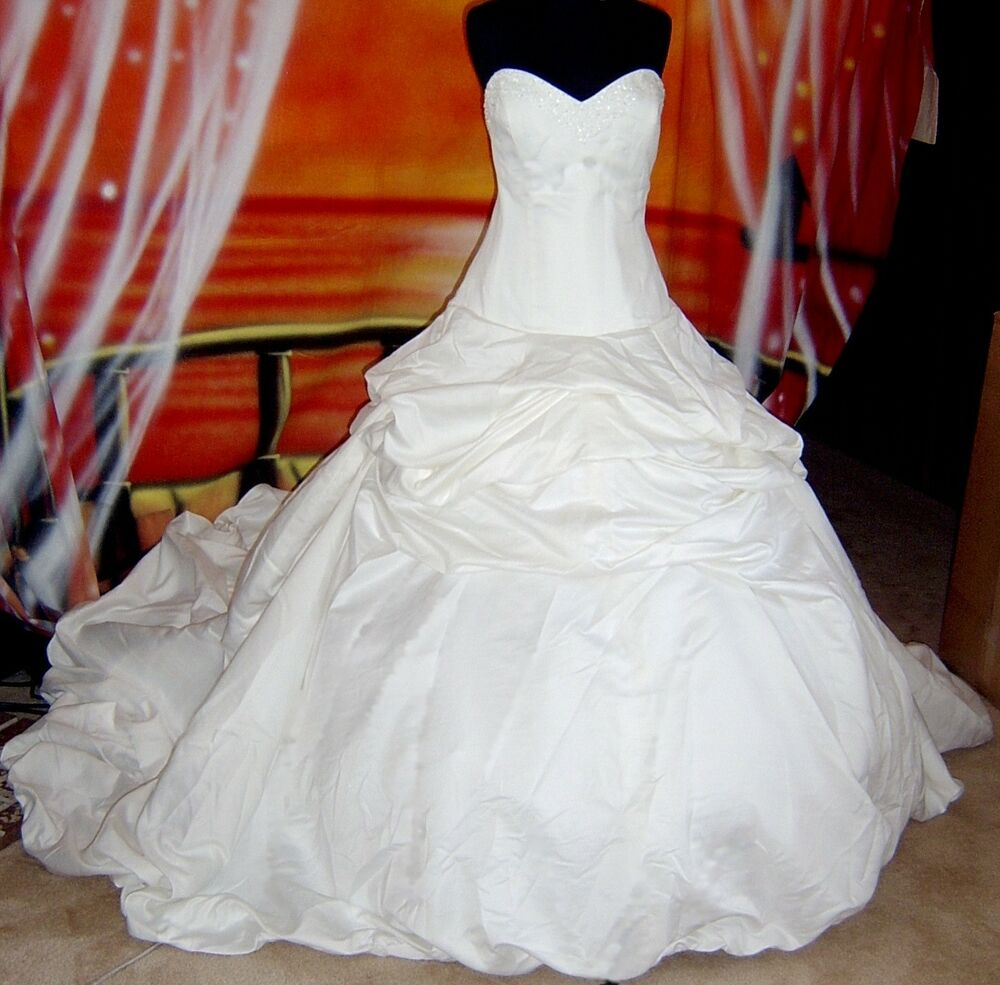 Wedding dress bridal sz 12 in stock cinderella gown 22 ebay for Cinderella wedding dress up