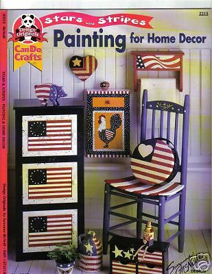 Painting for home decor folk art painting stars and Stars and stripes home decor