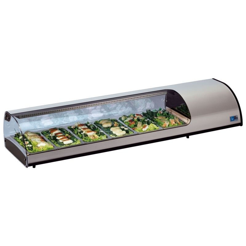 New Sushi Bar Cold Fish Amp Meat Counter Fridge Display Ebay
