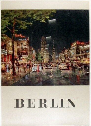 germany vintage travel poster berlin rare hot new ebay. Black Bedroom Furniture Sets. Home Design Ideas