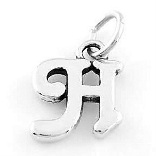Silver Letter H: STERLING SILVER 925 FANCY LETTER H CHARM/PENDANT