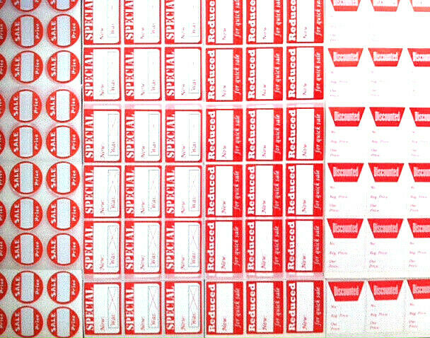 Store Tags: ASSORTED PACK!! ☀ROUND & RECTANGLE☀ RETAIL STORE SALE