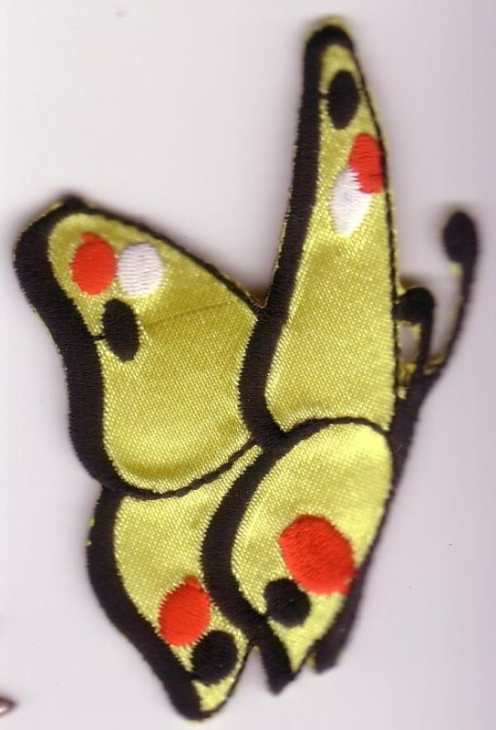 Yellow butterfly profile embroidery applique patch ebay