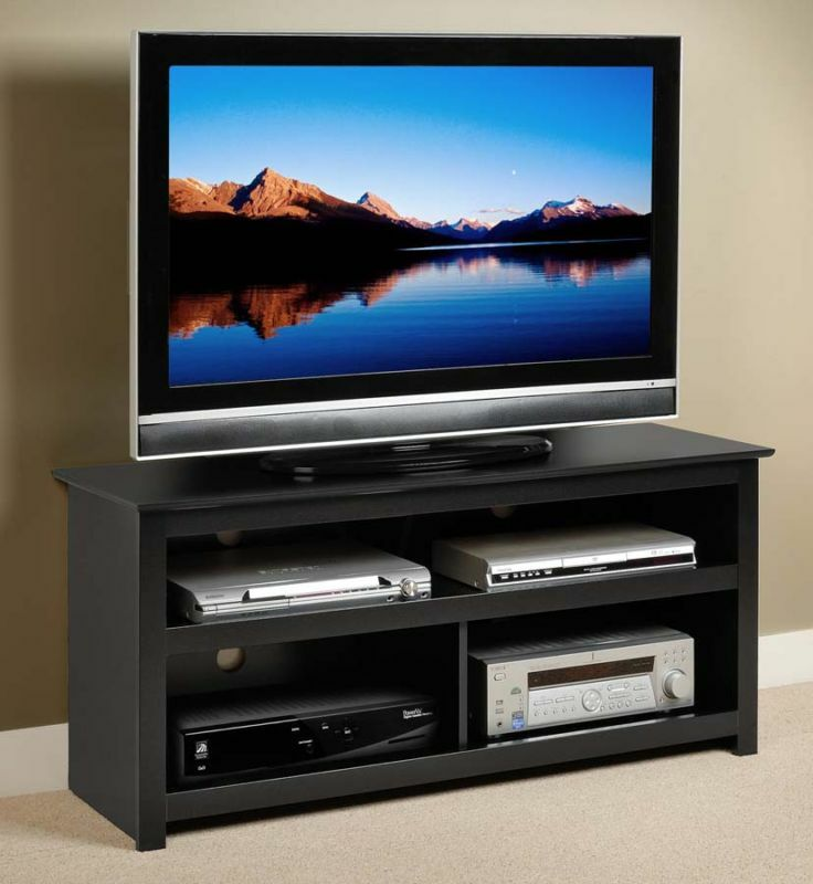 48 plasma lcd led tv stand a v console black new ebay for Where to buy tv console