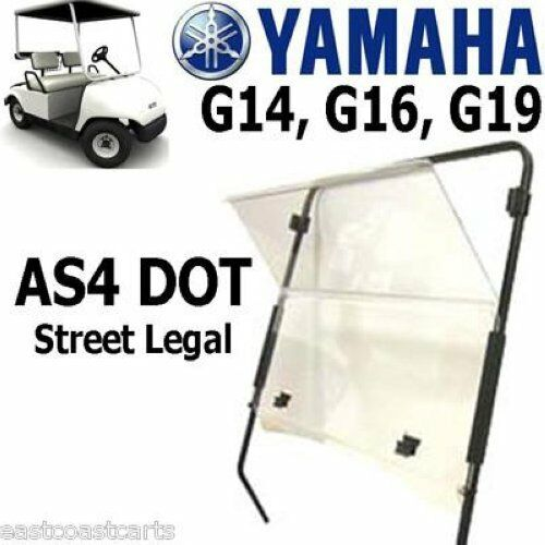 yamaha golf cart dot approved as4 windshield clear ebay. Black Bedroom Furniture Sets. Home Design Ideas