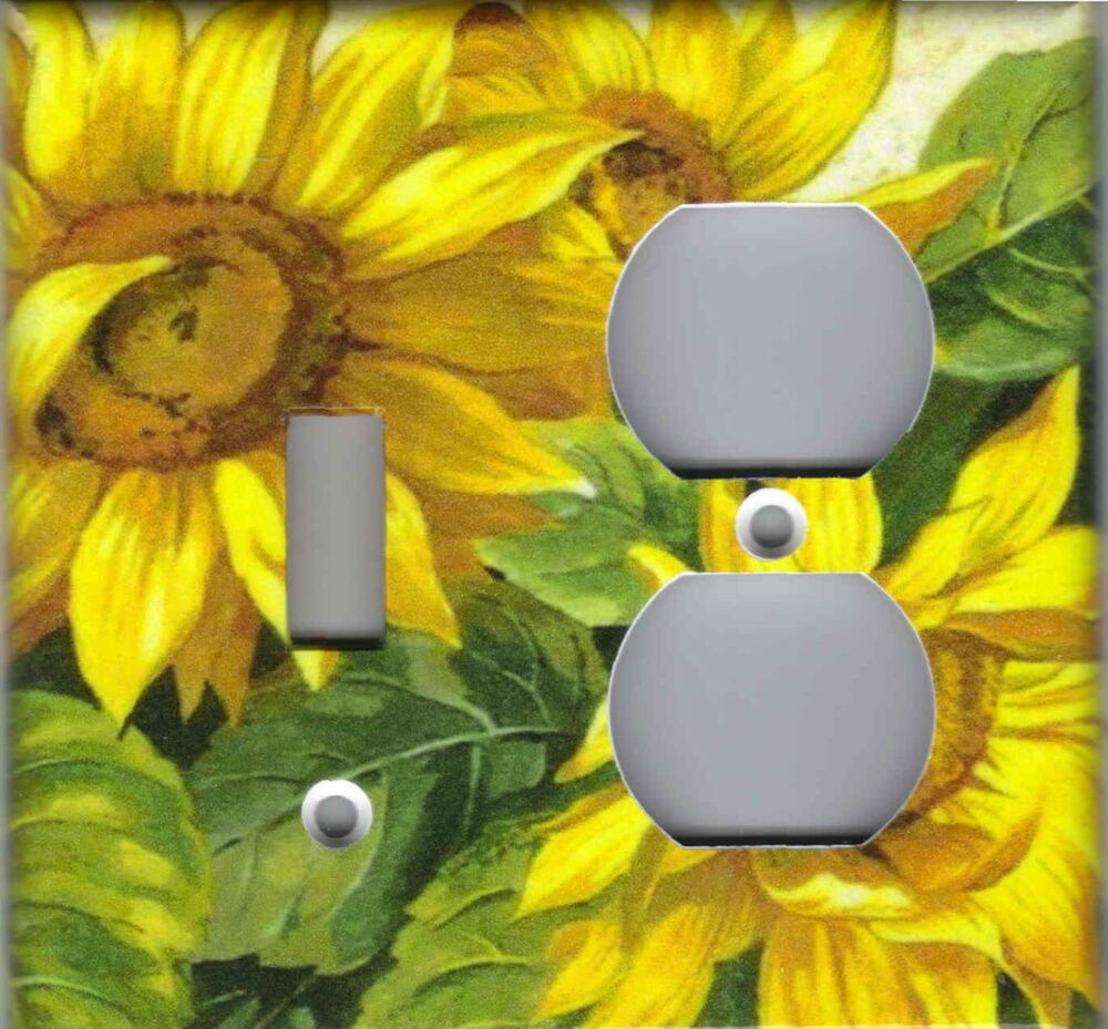 Sunflowers Kitchen Home Wall Decor Double Combo Ls Light
