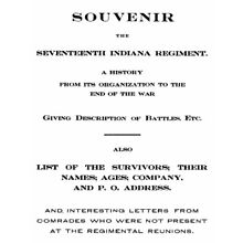 Civil War History of the 17th Indiana Regiment IN
