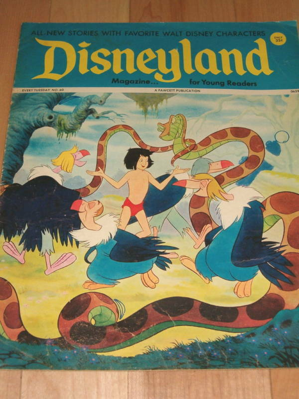 Disneyland Magazine 60 Jungle Book Cover 1973 Comics Ebay