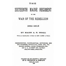 Civil War History of the 16th Maine ME