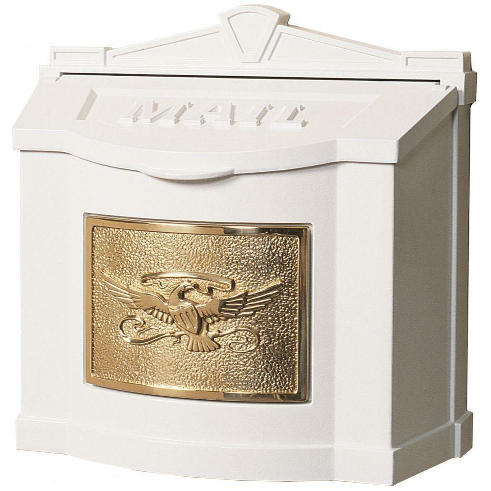 Gaines Locking Wall Mount Mailbox Eagle Mail Box Ebay