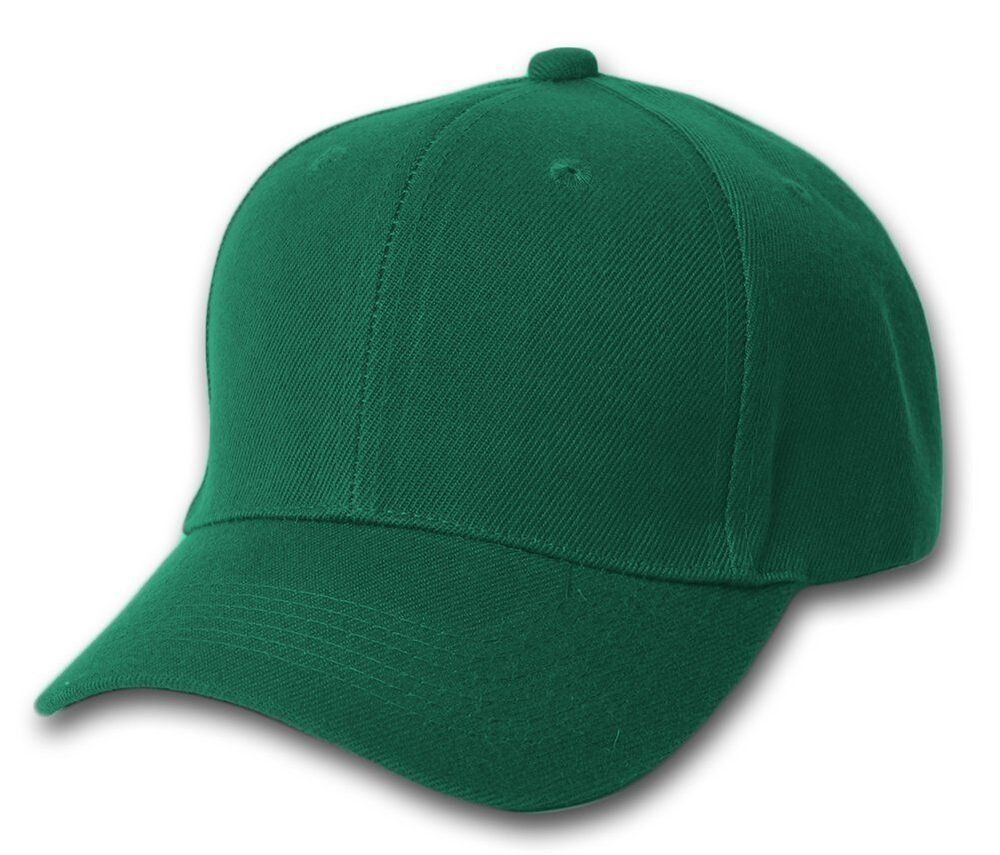 FOREST GREEN BASEBALL CAP CAPS HAT HATS ADJUSTABLE VEL 688295067986  fde338b0ed9