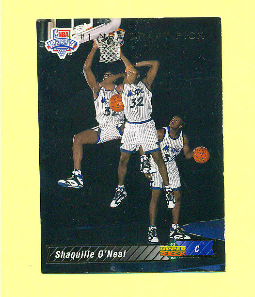 SHAQUILLE O'NEAL 1992 UPPER DECK ROOKIE CARD