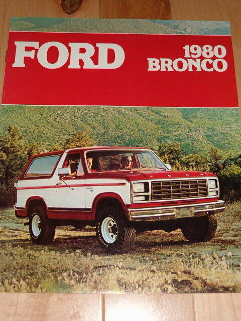 1980 Ford Truck >> 1980 FORD BRONCO 8 PAGE SALES BROCHURE AD | eBay