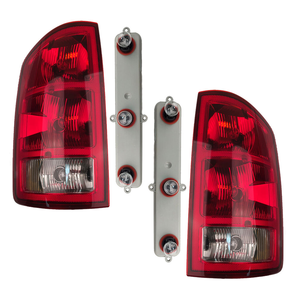 pair tail lights w circuit boards bulbs fits dodge ram. Black Bedroom Furniture Sets. Home Design Ideas