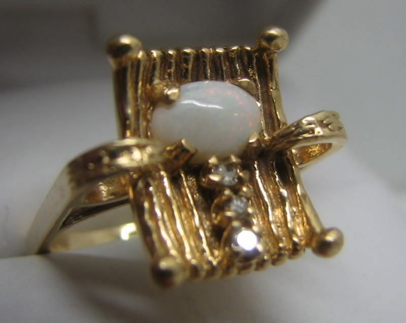 Opal Ring With Diamonds On Ebay