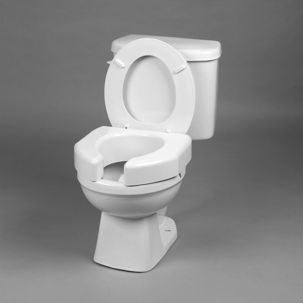 Bathroom Basic Open Front Elevated Toilet Seat 3 Quot High Ebay