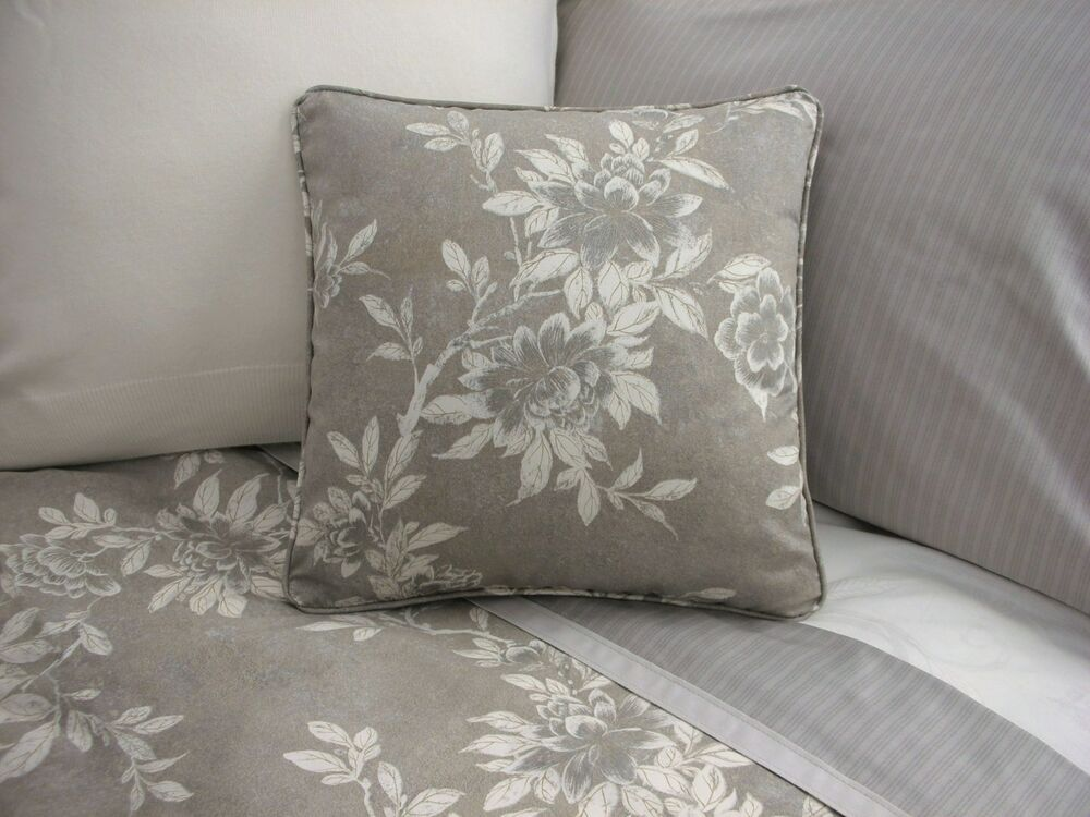 Ralph Lauren Decorative Couch Pillows : NEW Custom Ralph Lauren Odeon Gray Floral Throw Pillow eBay