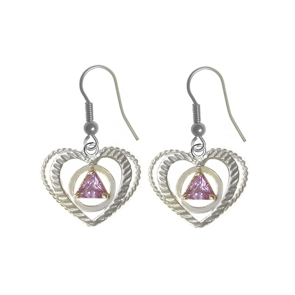 aa alcoholics anonymous jewelry earrings sterling
