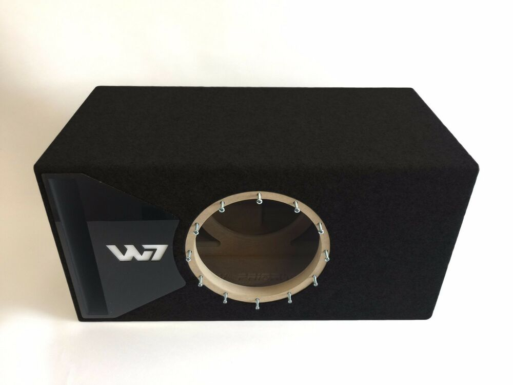 Jl audio 10w7 ported sub box with black plexi port trim ebay for L ported speaker box