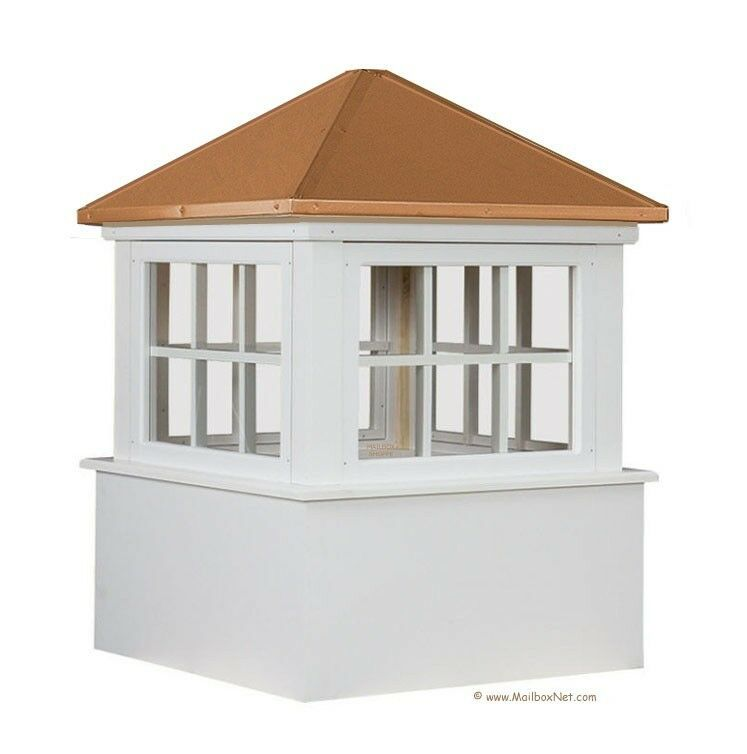 30quot 36quot 42quot azek vinyl window cupola with copper roof ebay for Cupola with windows